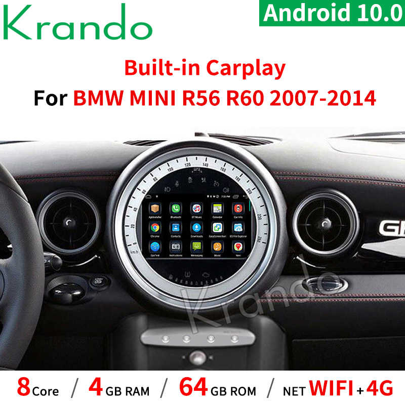 "Krando 7 ""Android 10.0 4G 64G Lettore Audio Autoradio Multimedia GPS Per BMW Mini Cooper R56 radio 2007-2010 Del Nastro CD Carplay"