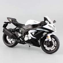 1:12 مقياس صغير كاواساكي النينجا ZX 6R الرياضة دراجة معدنية للدراجات النارية دييكاست الرياضة الطريق سباق نموذج جمع سيارة لعبة للأطفال