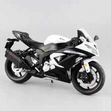 1:12 ölçekli mini Kawasaki Ninja ZX 6R spor bisiklet metal motosiklet diecast spor yol yarış modeli koleksiyonu araba oyuncak çocuklar için