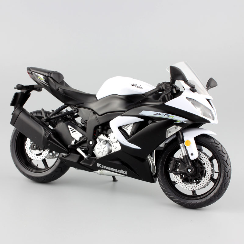 1:12 Scale Mini Kawasaki Ninja ZX-6R Sport Bike Metal Motorcycle Diecast Sport Road Racing Model Collection Car Toy For Children