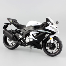 Scala 1:12 mini Kawasaki Ninja ZX 6R Sport bike metallo moto diecast sport road racing model collection car toy for children