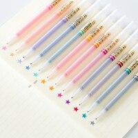 Сверхтонкий наконечник 12/24 цветной маркер гелевая ручка набор прозрачный корпус микро чернила на водной основе лайнер для рисования канцел...