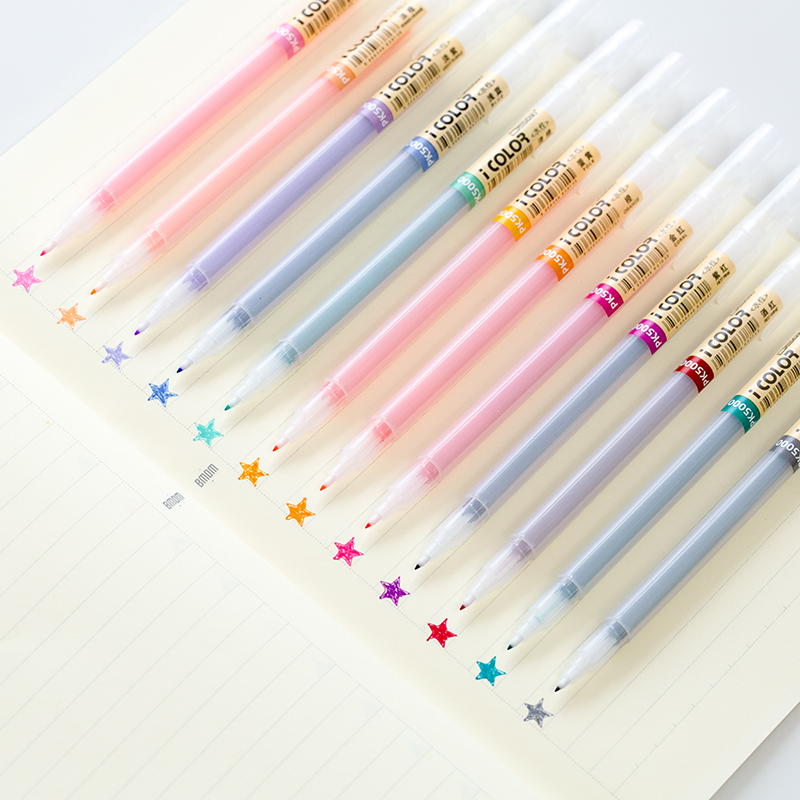 Extra fine tip 12/24 color marker gel pen set Transparent body Micro Water based ink liner drawing Stationery School Art F581
