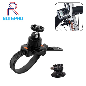 цена на Adjustable Bicycle Belt Mount Holder Gopro Clip Bracket Mount Clamp For Gopro Hero 7 6 5 4 3+ 3 xiaomi yi 4K High Quality