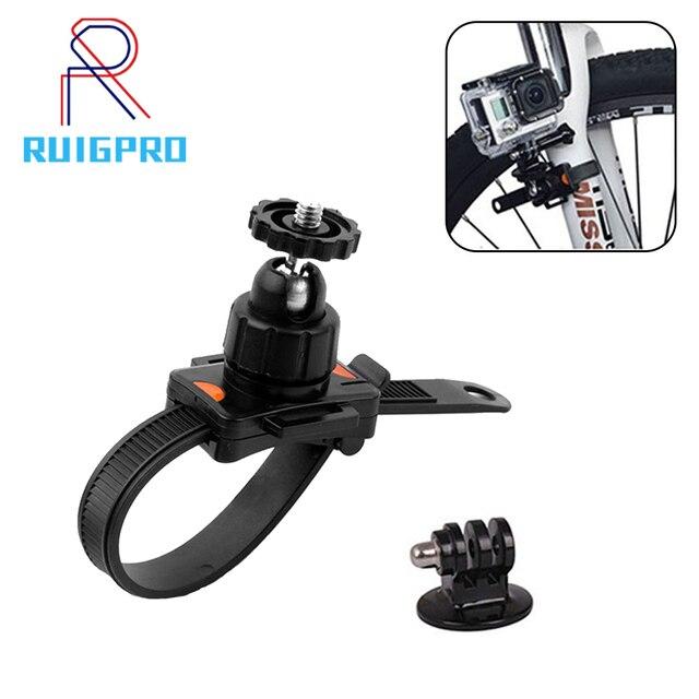 Support de fixation de ceinture de vélo réglable Gopro pince de fixation de support pour Gopro Hero 7 6 5 4 3 + 3 xiaomi yi 4K haute qualité