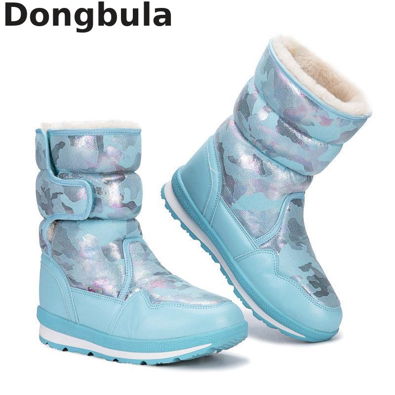 Hot 2019 Girls Winter Boots For Kids Snow Boots Fashion Plush Warm Girls Shoes Outdoor Sports Parent-child Skiing Children Boots