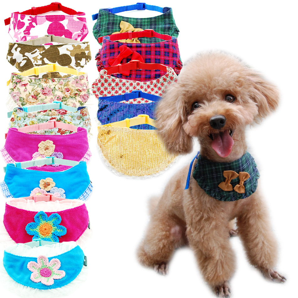 Dog Cat Bandana Plaid Adjustable Scarf Washable Collar for Cats Puppy font b Pet b font