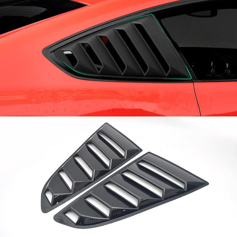 Carbon Fiber Printed Car Rear Window Cover Moulding Trim for Ford Mustang 2015 2016 2017 Styling Accessories|Styling Mouldings| |  - title=