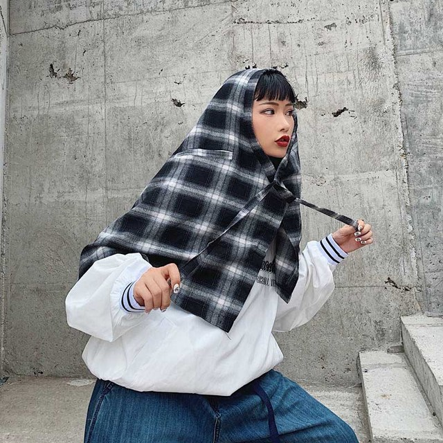 NiceMix New Plaid women's Hip Skirt 2019 New Fashion Waist Band Asymmetrical Cut Skirt for Men/women Street Dance Skirts plaid 5