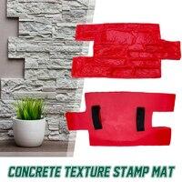 Pedra decorativa molde de concreto cimento reutilizável tijolo molde impressão textura selo esteira moldes de borracha jardim casa decoração textura parede
