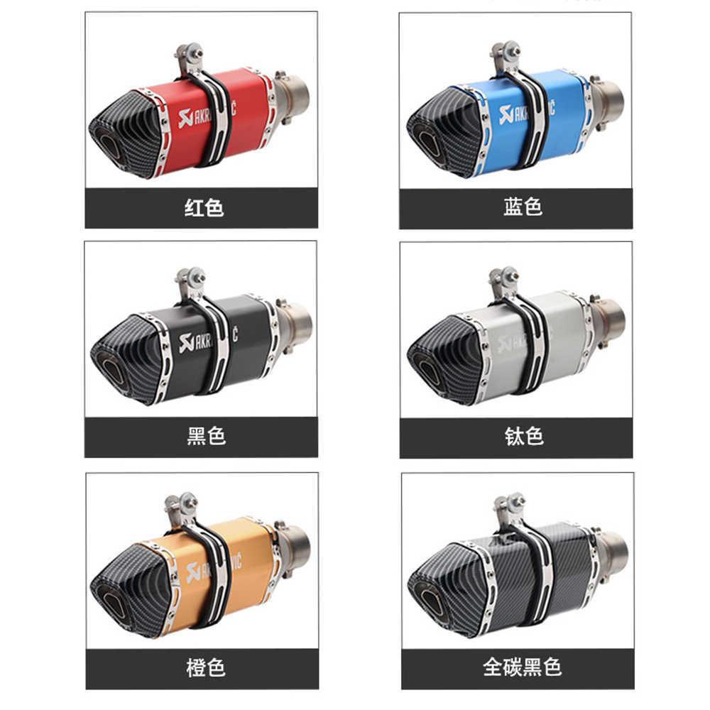 Akrapovic 51 Mm Moto Rcycles Exhaust DB Pembunuh untuk PCX 125 Honda Dio 34 Tmax530 Honda X4 KTM Duke 390 Moto aksesoris