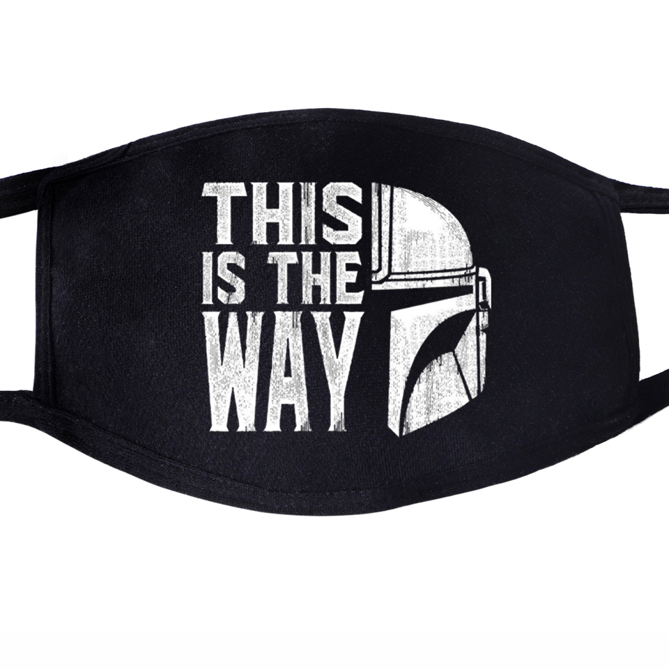 This Is The Way Star Wars The Mandalorian Baby Yoda Face Masks Mouth Unisex Black Half Mouth Mask Anti Dust Anti-bacterial Mask