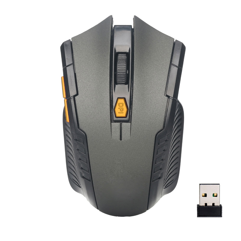 2.4GHz USB Wireless Optical Mouse 2000DPI 6 Buttons PC Laptop Computer Gaming Mice DQ-Drop