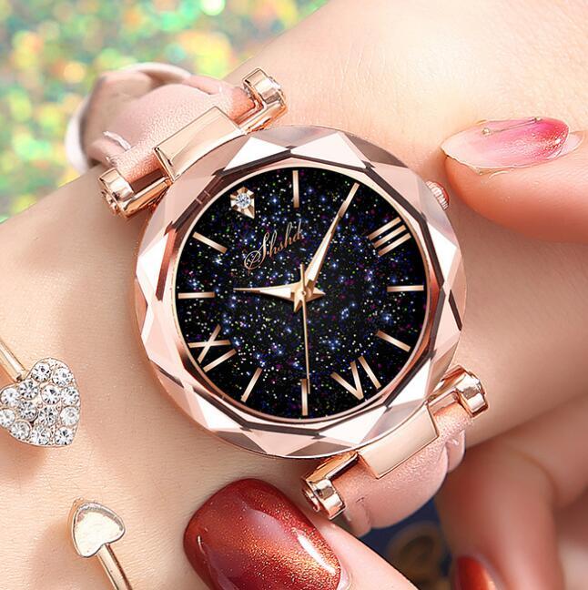 Luxury Starry Sky Female Clock Quartz Watches Women Fashion Ladies Wrist Watch Reloj Mujer Relogio Feminino Wristwatch