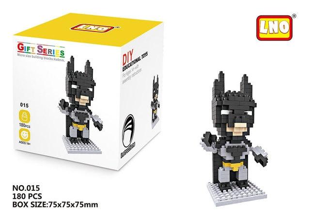 Plastic Building Blocks Model Kits Action Toy Micro-Block Groot Spiderman Venom Mini Brick Toys For Kids Birthday Gift Juguetes