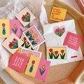 14 листов, винтажные наклейки для телефона в виде цветов тюльпана