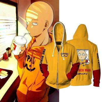 Camiseta Manga Larga de Hombre Saitama Ok One Punch Oppai Manga Anime
