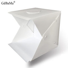 40cm Mini Folding Lightbox Photography GdBaMa Studio Godox SoftBox LED Light Box Camera Photo Background Box Lighting Tent Kit godox tl 5 photo studio continuous lighting tricolor light head light stand softbox photography lighting kit