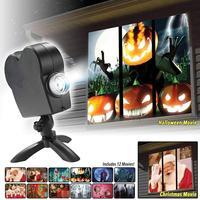 Рождество Хэллоуин окно проектор Led прожекторное освещение лампа Рождество проекционный светильник профессиональный
