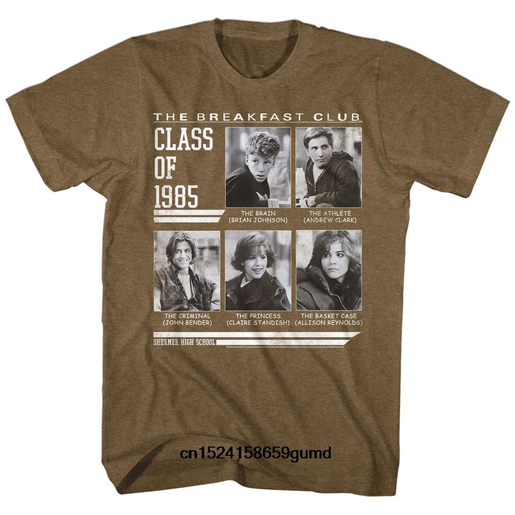 Funny Men T Shirt Women Novelty Tshirt Breakfast Club One Day Only Slim Fit T-Shirt