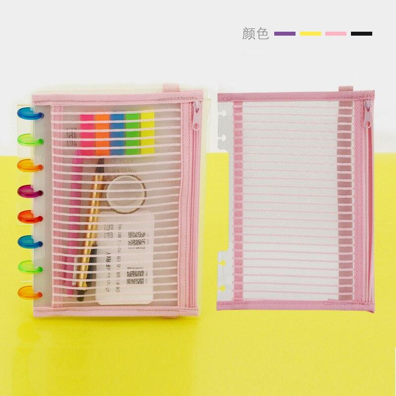 A5 Notebook Cover Zipper Bag Pp Material Business B6 Book Storage Bag Pen Bag File Bag Disc Binding Hand Account Accessories