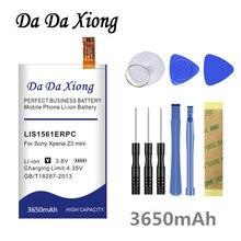 Da Xiong 3650mAh LIS1561ERPC литий-ионный аккумулятор для телефона sony Ericsson Xperia Z3 mini Compact M55W D5833 SO-02G