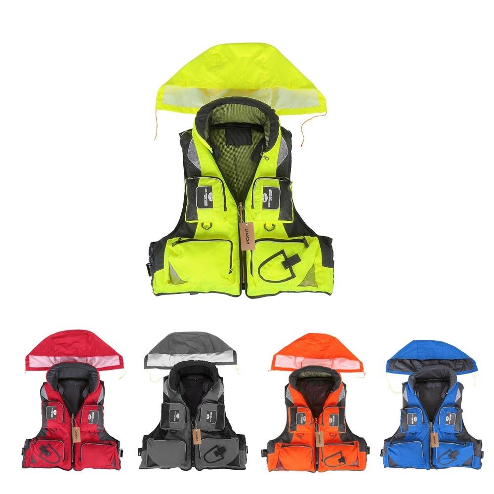 Lixada Adult Unisex Swimming Life Jacket Polyester Fishing Life Vests L-XXL Survival Safety Life Vest For Drifting Boating Kayak kayak suit
