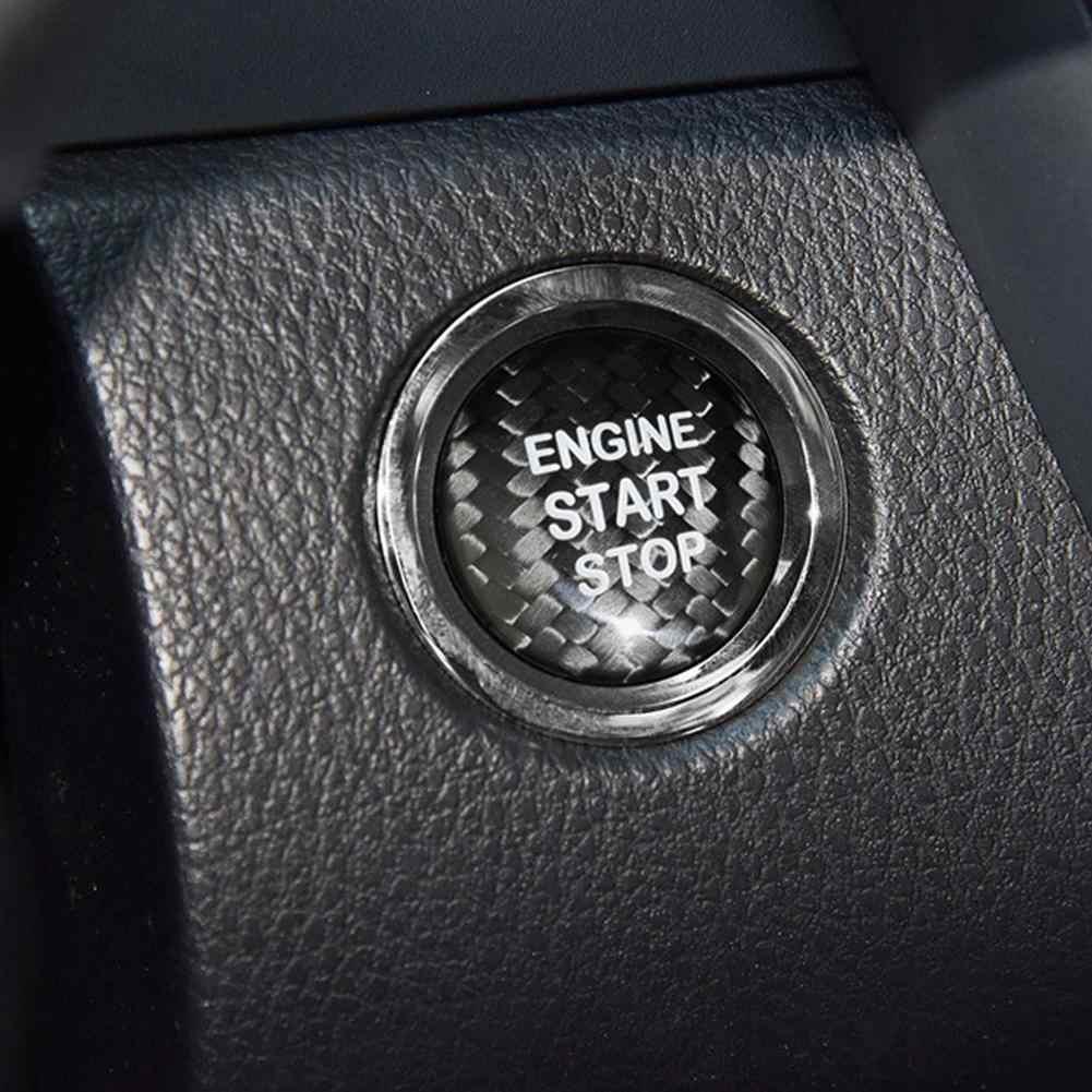 สติกเกอร์รถ Automoble หยุดปุ่มฝาครอบสำหรับ Toyota Highlander Carola ALPHARD RAV4 Camry รถอุปกรณ์เสริม