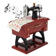 Sewing machine Music Box Mini Vintage Lockwork Sewing Machin