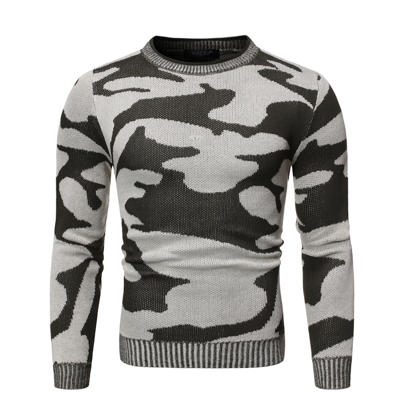 Men's Sweater Camouflage Pullovers New Autumn Winter Sweaters Men Casual Camo Pattern Knitted male warm Christmas Clothes New