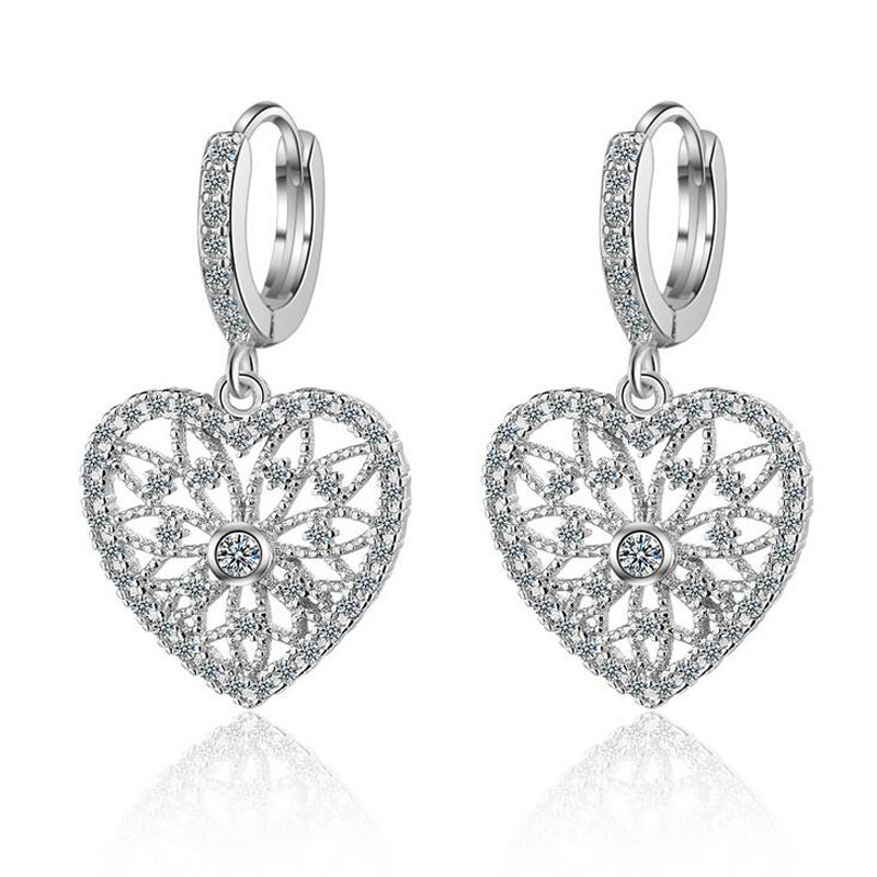 Heart-Earrings 925-Silver New Are for Your-Girlfriend's-Birthday-Gift Celebrity Web Perfect