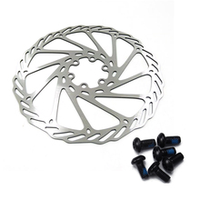 купить 1 pcs Outdoor Cycling G3 Disc Brake Piece Rotor 180mm Mountain Bike Disc Bicycle Six Nails Bb5 Bb7 Disc Brakes With Screws по цене 256.62 рублей