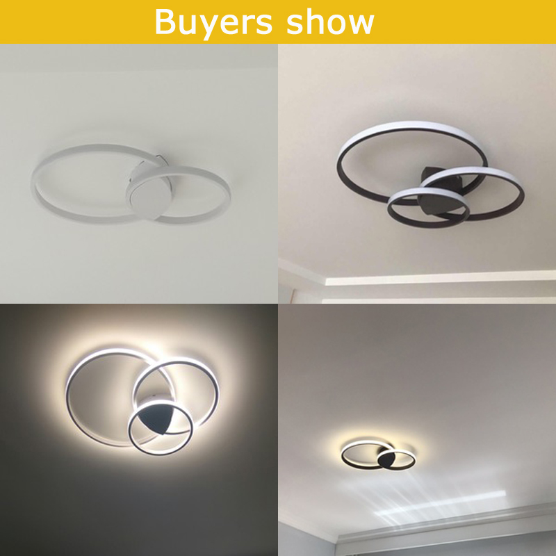 Led Ceiling lamp For Living Room Bedroom Study Room Home Deco AC85 265V Modern White Coffee Led Ceiling lamp For Living Room Bedroom Study Room Home Deco AC85-265V Modern White/Coffee surface mounted Ceiling Lamp