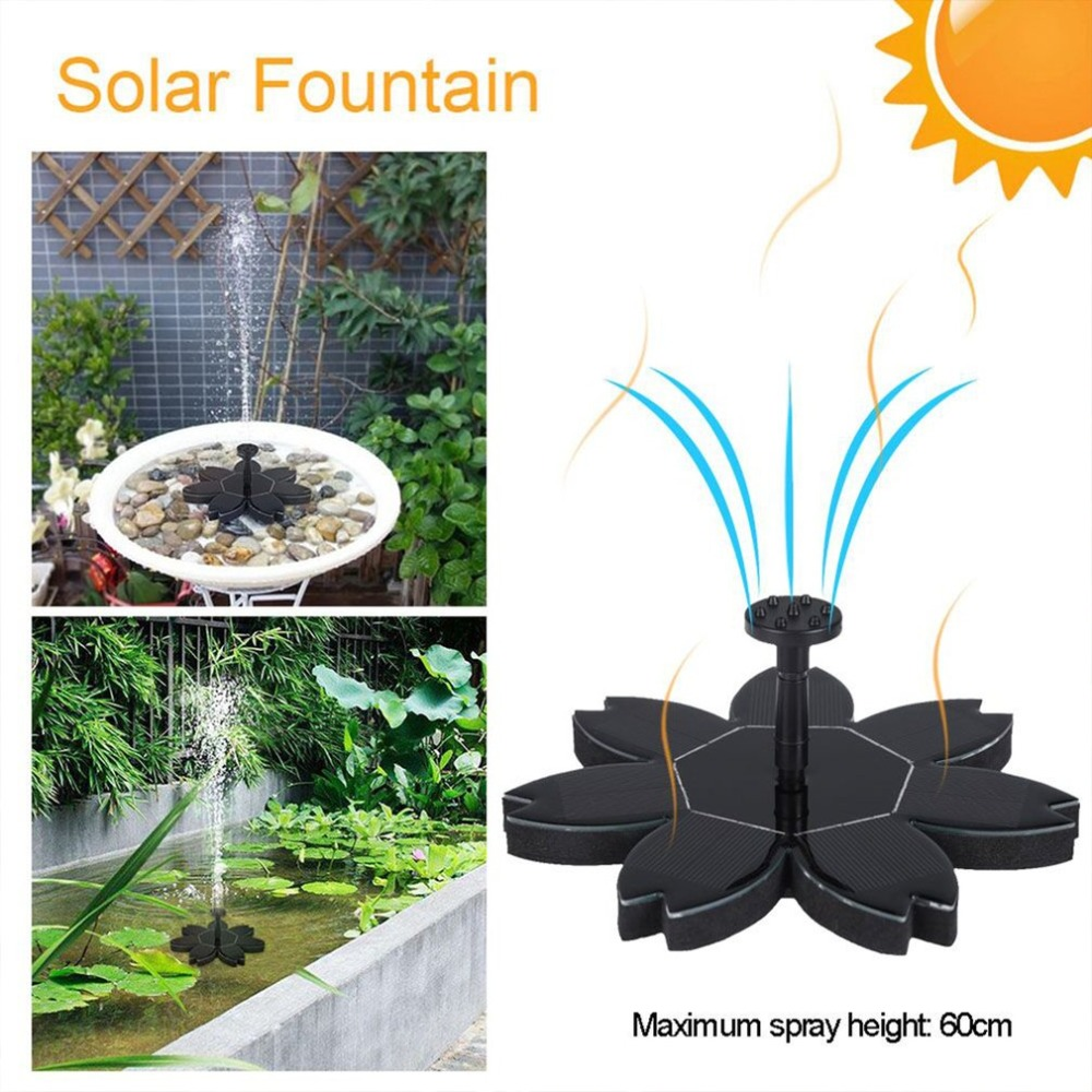 Eco-friendly Intelligent Solar Powered Fountain Pump Kit For Pool Garden Pond Watering Round Water Fountain Pump With 4 Nozzles