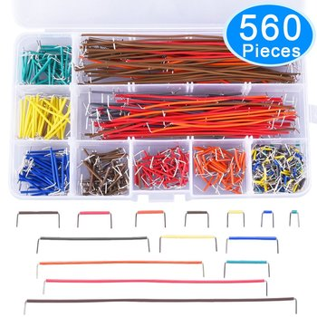 14Size 24AWG U Shape 560 Pcs M-M Jumper Dupont Wire Lead Solderless PCB Breadboard Cable Wire 2-125mm Kit Arduino Assorted