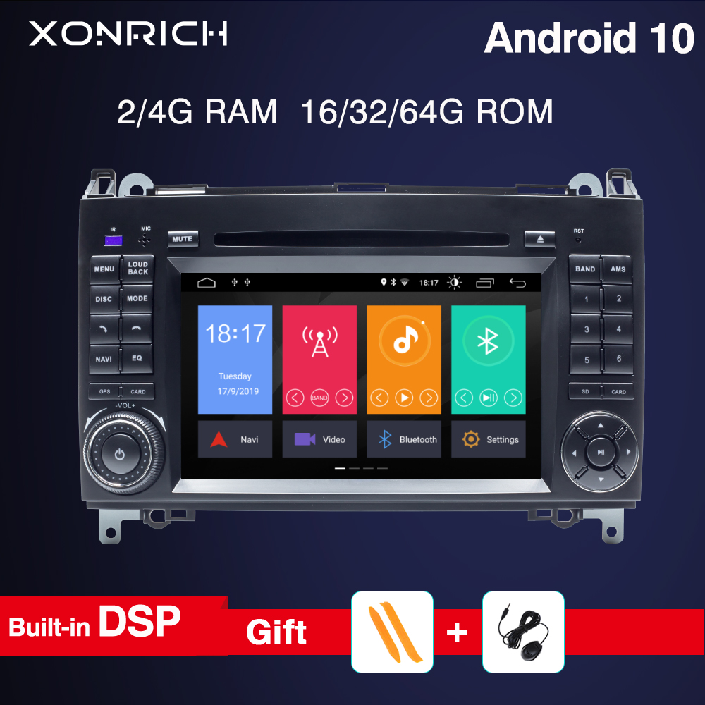 <font><b>Android</b></font> 10 2din Car <font><b>Radio</b></font> car dvd player For <font><b>Mercedes</b></font> <font><b>Benz</b></font> B200 A B Class <font><b>W169</b></font> W245 Viano Vito W639 Sprinter W906 GPS RDS 4GRAM image