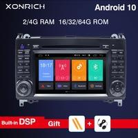 Android 10 2din Car Radio car dvd player For Mercedes Benz B200 A B Class W169 W245 Viano Vito W639 Sprinter W906 GPS RDS 4GRAM