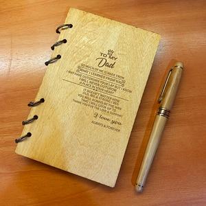 Image 2 - Custom Gepersonaliseerde Hout Notebook Huismus voor Planner journal Dagboek Verjaardag Kerst Anniversary Gifts Notities Nemen Schetsboek