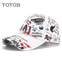 цена на Graffiti baseball cap fashion Korean personality bend along the summer tide models men and women personality wild cap visor