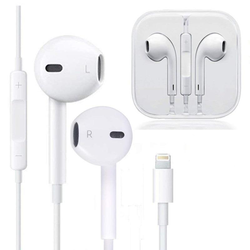 Проводные наушники для Apple IPhone 10 11 Pro X XR XS Max 7 Plus, наушники с микрофоном, не беспроводные