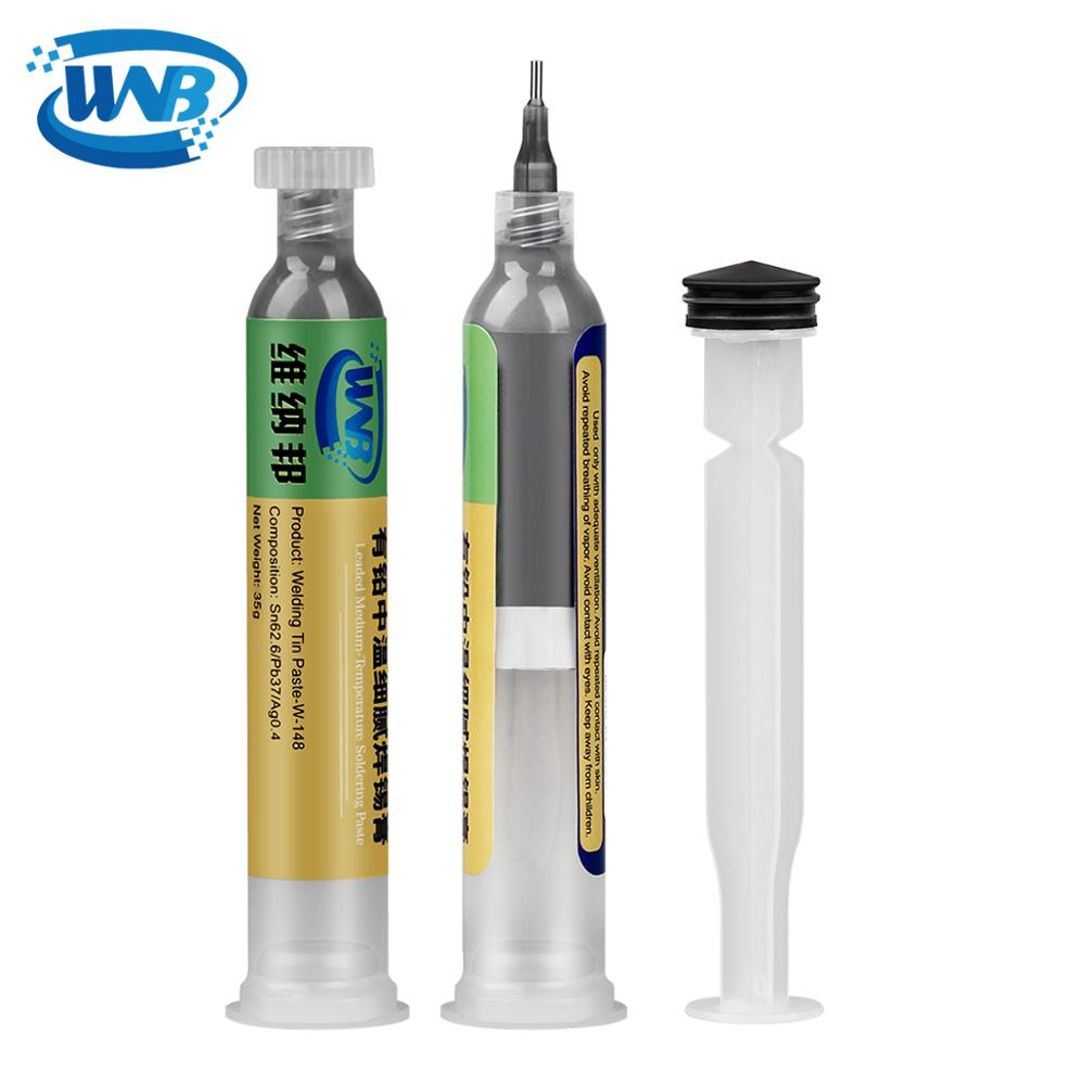WNB 10cc Syringe Liquid Flux Soldering Paste Tin Cream Welding BGA SMT Repair Rework Tool 148℃ Melting Point Solder Tin Paste