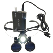 Dental Loupe 2.5/3.5X420mm Binocular Magnifier Medical Dental Surgical Loupes+ 3W LED Medical Headlight Headlamp цена 2017