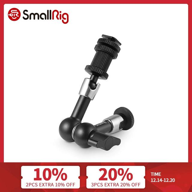 """SMALLRIG DSLR Camera Rig Articulating Rosette Arm(7"""") for Monitor Support Durable Magic Arm For Flash Light Attach 1497"""