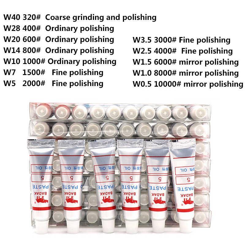 1pcs Malha 320-10000 W0.5-W40 Tubo de Agulha de Diamante Pasta Abrasiva de Moagem de Polimento Composto de Lapidação de Vidro Ferramenta De Metal Micron ferramenta