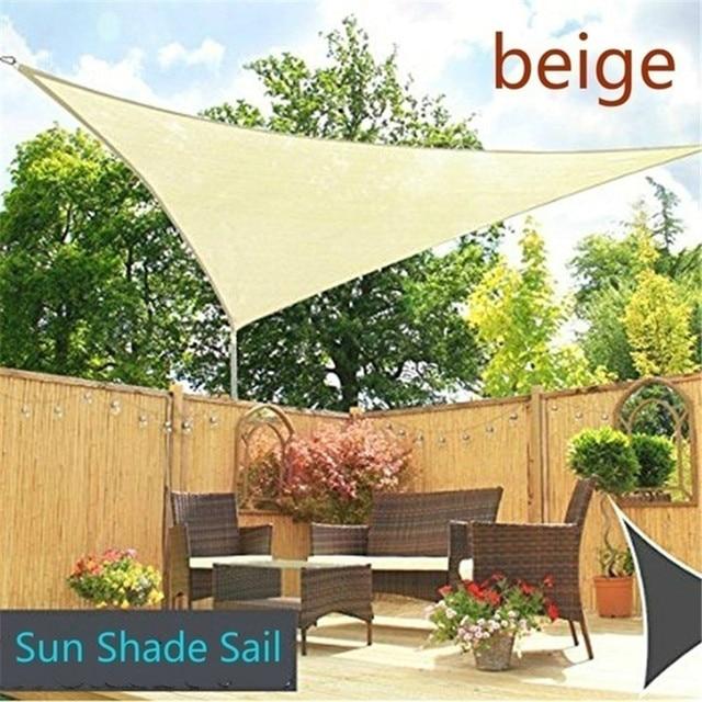 3*3 été Triangles UV soleil ombre voile auvent auvent étanche pour Camping en plein air cour Patio café piscine jardin