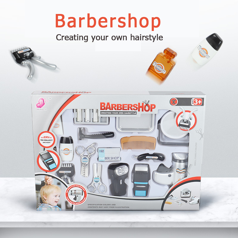 Kids Hair Salon Kit Pretend Play Hairdressing Simulation Toy For Toddler Hair Dryer Beauty Tools Make Up Set For Little Girl Boy