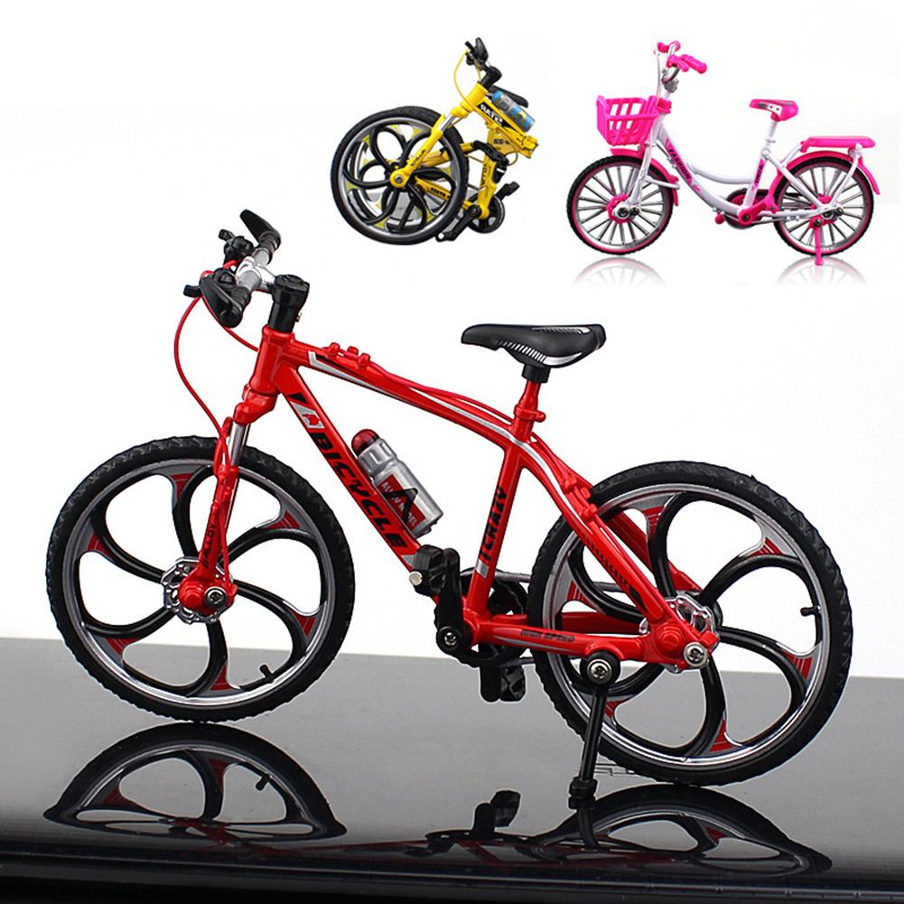 1:10 Mini Simulation Model  Bicycle Metal Racing Bike Model Bicycle Craft Kids Toy Collection Desk Home Decor