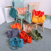 Pure Women Canvas Shopping Bag Female Cloth Shoulder Environmental Storage Handbag Reusable Casual Tote storage bag