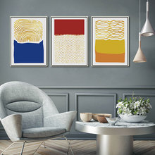 Drop Shipping Poster Art Print Abstract Geometry Warm Color Block Golden Dot and Line 3 Panel Canvas Painting Wall Picture Decor printed abstract graphics psychedelic nebula space painting canvas print decor print poster picture canvas free shipping ny 5746