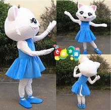 Adult Cat Girl Mascot Costume Christmas Cats Fancy Dress Halloween Christmas Mascot Costume